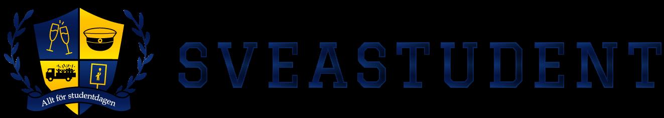 Logotyp för Sveastudent som tillverkar studentplakat