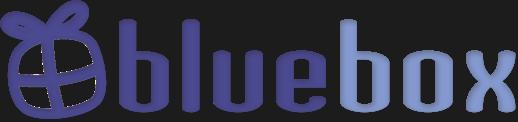 Logotyp för Bluebox som säljer studentpresenter